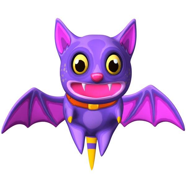3D anime bat cat