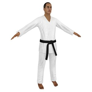 3D karate martial artist model