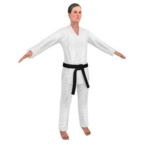 karate martial artist model