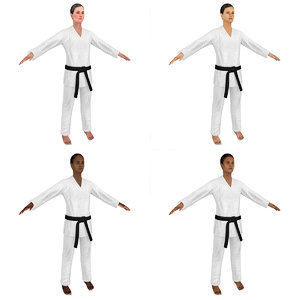 3D female karate
