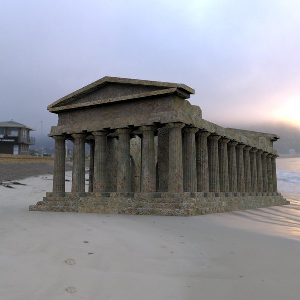 temple daz studio 3D model