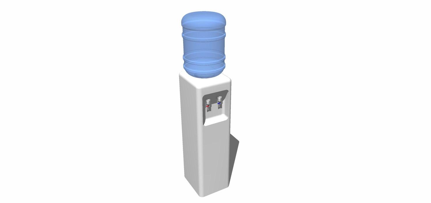 3D dispenser agua model