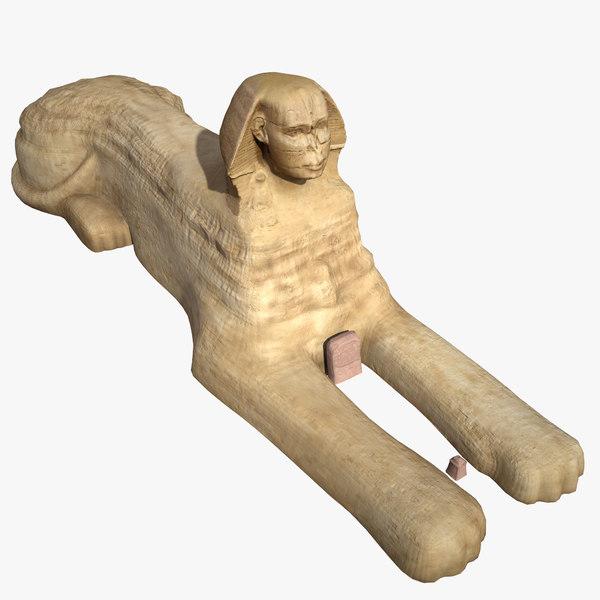 3D great sphinx giza