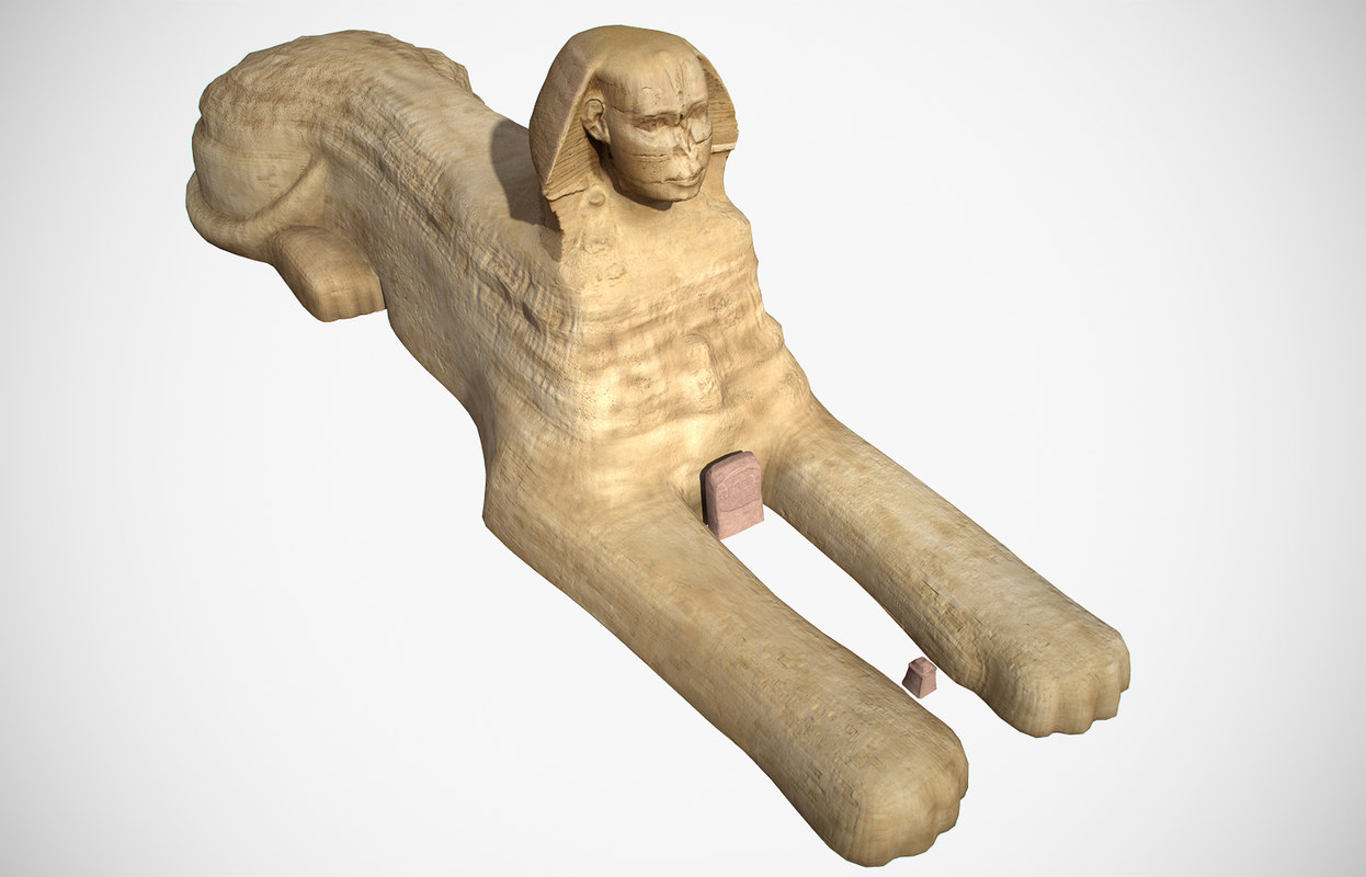 3D great sphinx giza