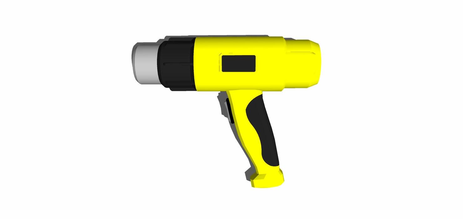 3D pistola aire caliente