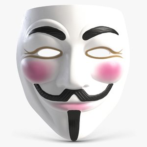 3D guy fawkes mask