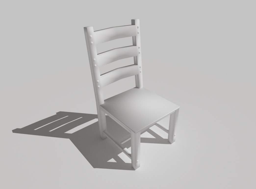 3D medieval tavern style chair