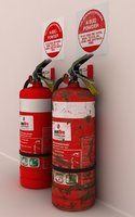 Rusty/Clean Fire Extinguisher NURBS