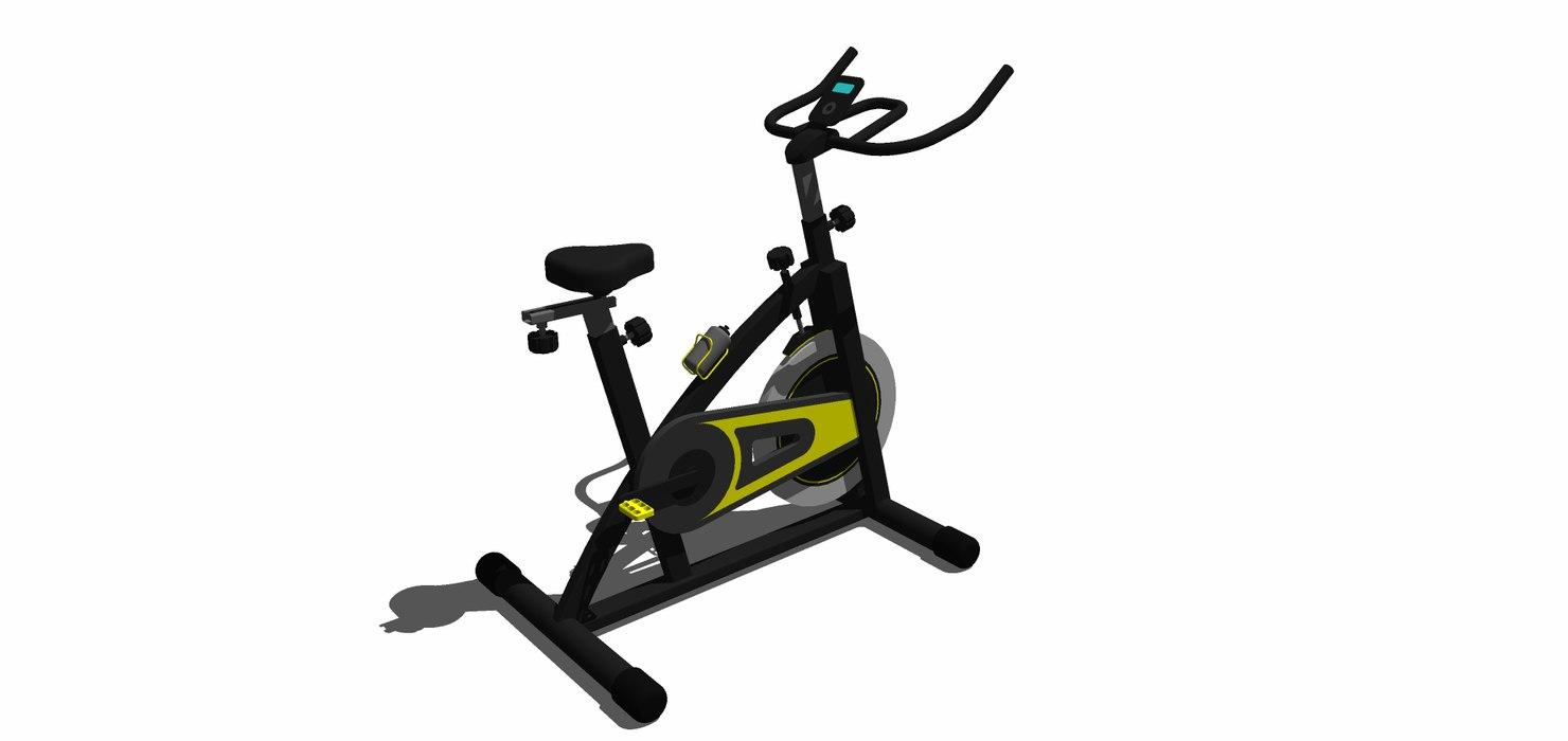 3D bicicleta fija model