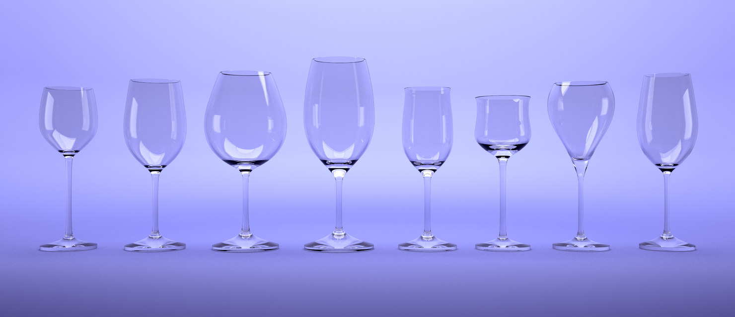 winecups blender 3D
