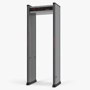 airport metal detector frame 3D model