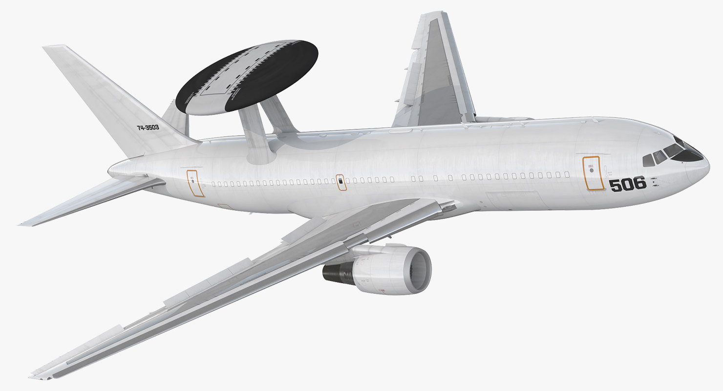 3D boeing e767 awacs rigged