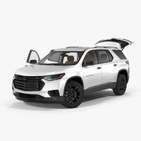 Chevrolet Traverse SUV 2018 Rigged 3D Model