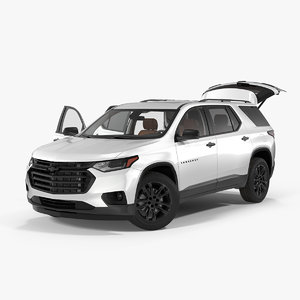 3D chevrolet traverse suv 2018 model