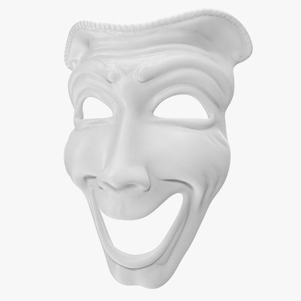 comedy theatre mask model