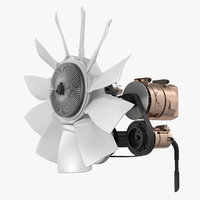 car engine cooling fan 3D model