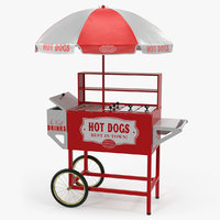 hot dog vending cart 3D model