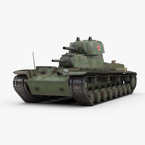 3D model ww2 soviet russian smk
