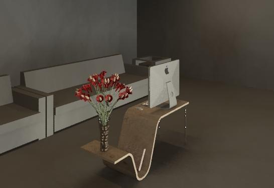 study desk 3D model