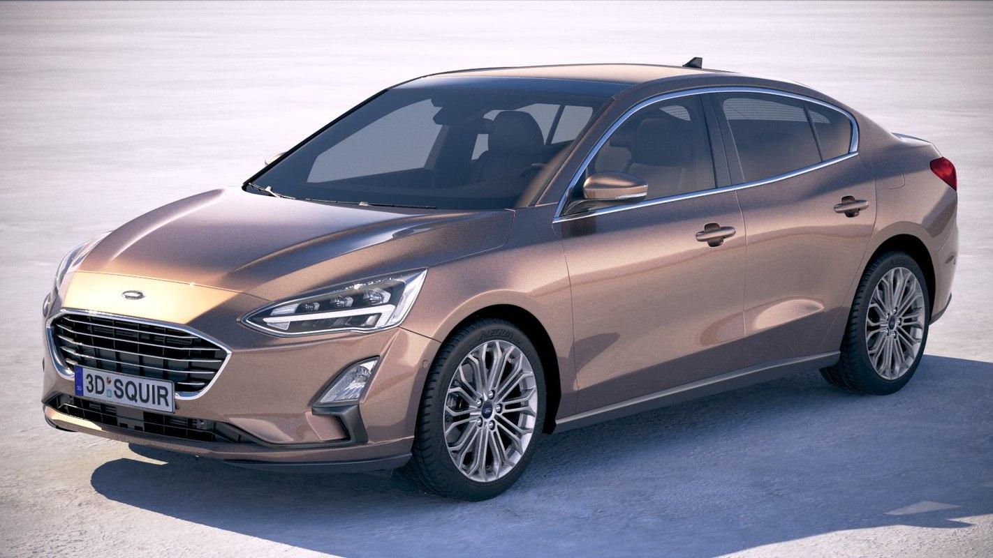focus sedan 2019 3D model