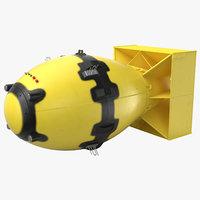 fat man nuclear bomb 3D model