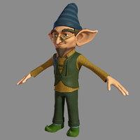 3D elf character model