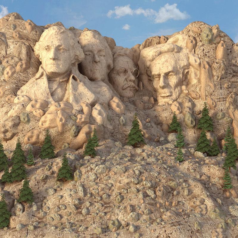 3D mount rushmore south dakota