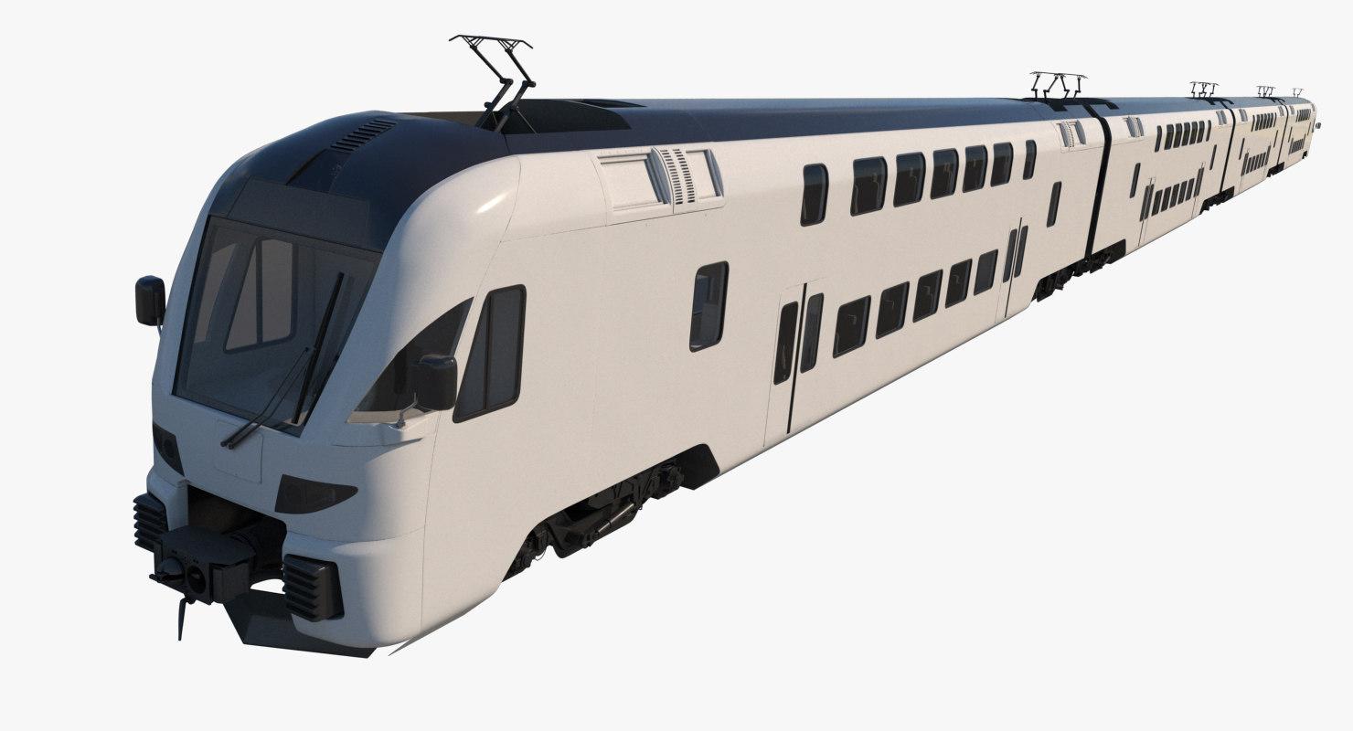 stadler dosto passenger train 3D model