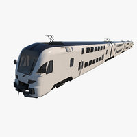 stadler dosto passenger train 3D model
