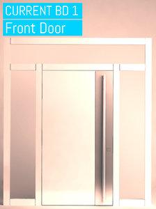 3D door opened closed model
