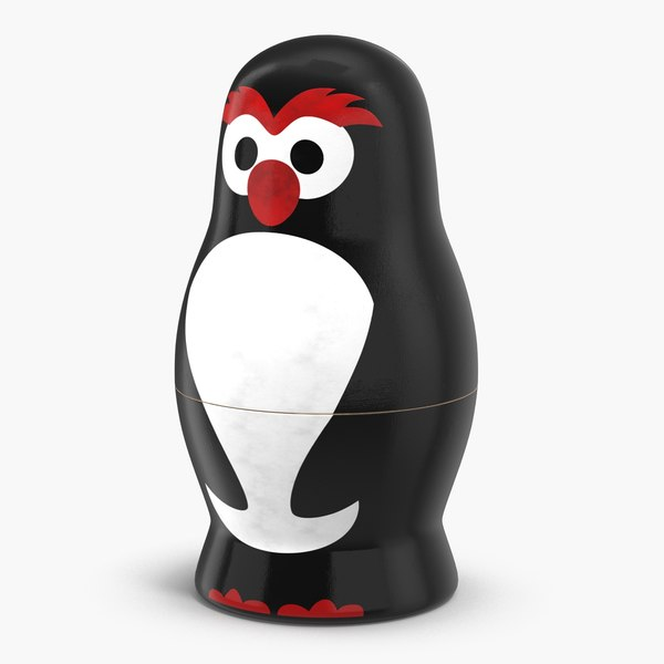 matryoshka penguin doll 3D model