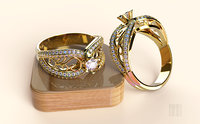 3D stl gold silver