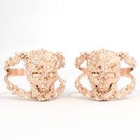 3D ring skull flower model
