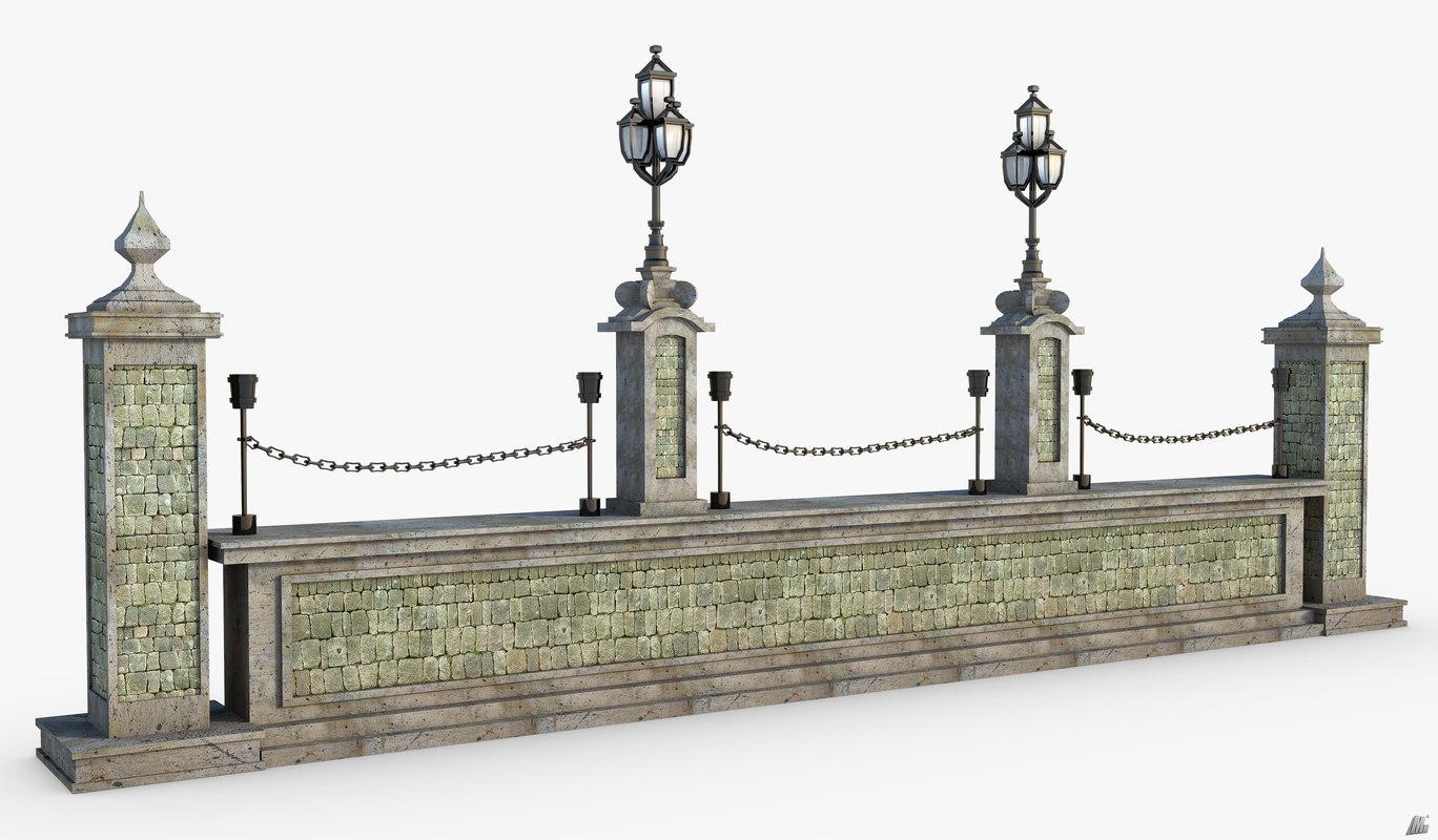 3D model fence fantasy