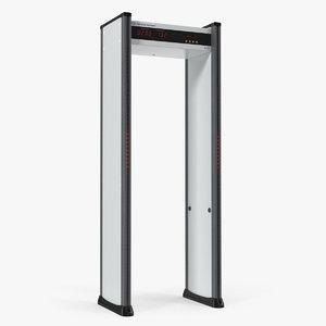 3D multizone door frame metal detector model