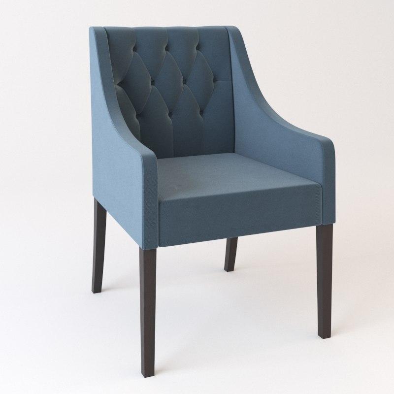 3D model cafes chair