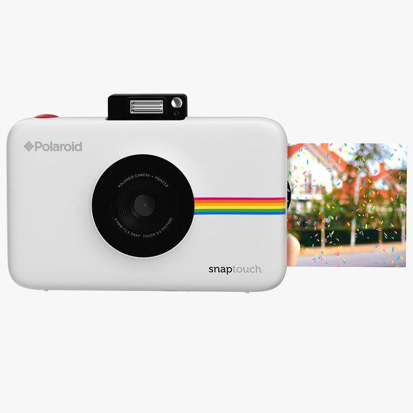 3D model polaroid snap digital instant