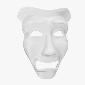 3D tragedy theatre mask