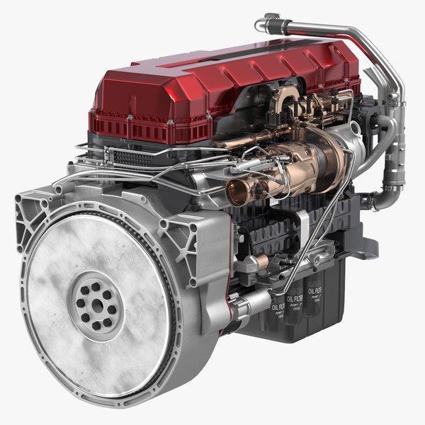 turbo diesel truck engine 3D