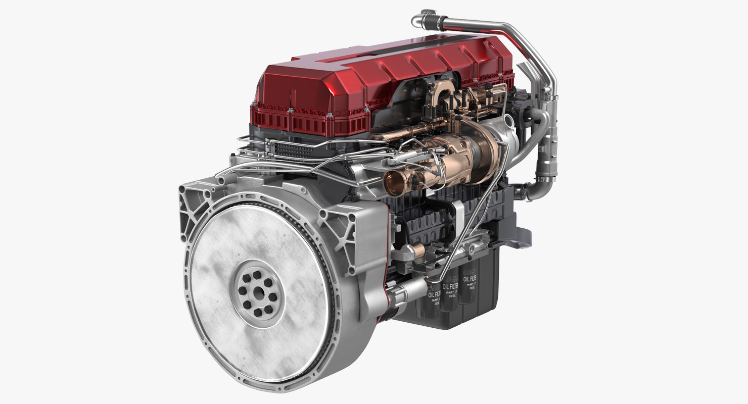 turbo diesel truck engine 3D