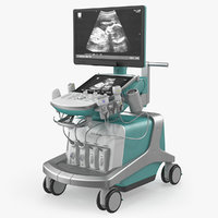 ultrasound machine generic rigged 3D model