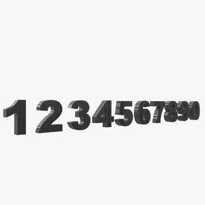 3D number cut