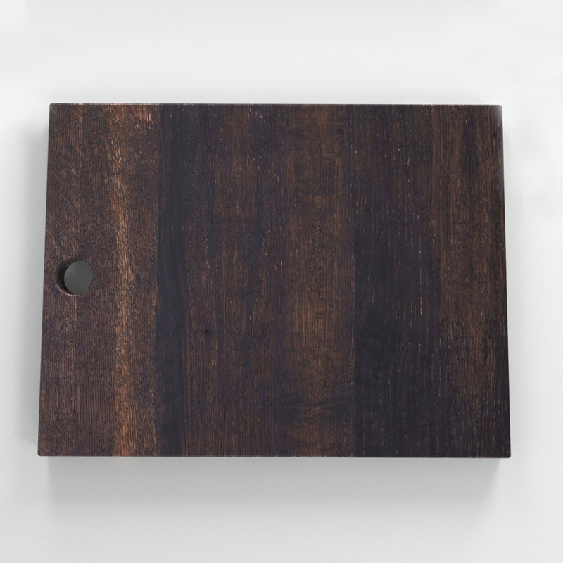 oxidized oak serving board 3D model