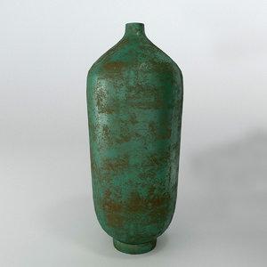 3D norr11 teal vase model
