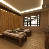 3D model scene spa massage