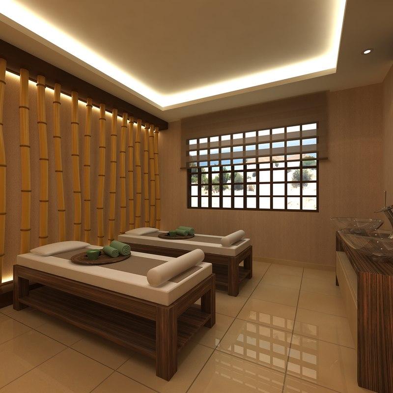 3D model scene spa massage