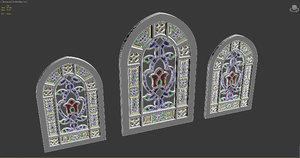 mosque church window model