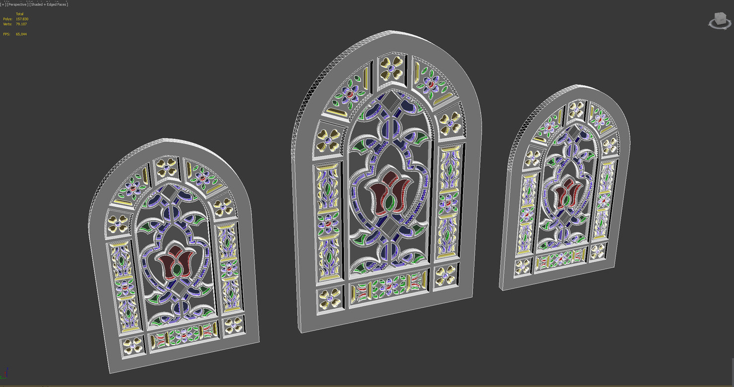 mosque church window model