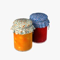 jam jars 3D model