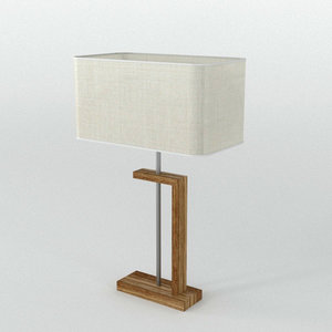 nateza wooden table lamp lighting 3D